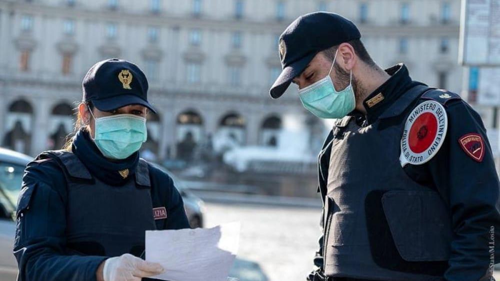 Controlli polizia Coronavirus covid