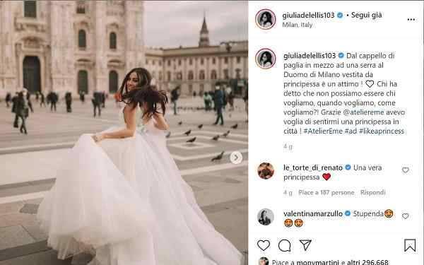 """Giulia De Lellis """"Che brutto deve essere provare invidia..."""""""