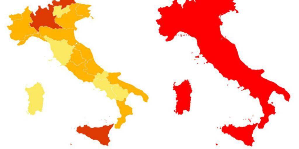 Quali Regioni potrebbero cambiare colore da lunedì 22 febbraio
