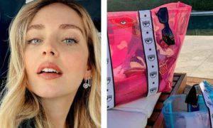 Chiara Ferragni: la nuova borsa mare del suo brand, tutta in plastica e prezzo shock