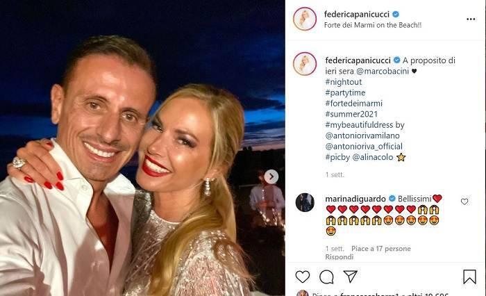 E' saltato il matrimonio tra Federica Panicucci e Marco Bacini