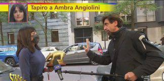 Scandalosa consegna del tapiro ad Ambra Angiolini